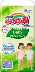 Характеристрики и размер товара Подгузники-трусики Goon Cheerful Baby XL 11-18кг 42шт
