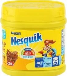 Характеристрики и размер товара Какао-напиток Nesquik OPTI-START быстрорастворимый банка 0,25кг
