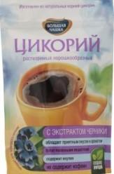 Характеристрики и размер товара Цикорий Большая чашка растворимый порошкообразный с экстрактом черники, 85 г