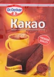 Характеристрики и размер товара Какао порошок Dr.Oetker м/у 50г