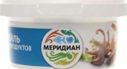 Характеристрики и размер товара Коктейль из морепродуктов в рассоле Меридиан п/у 180г