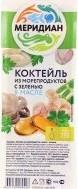 Характеристрики и размер товара Коктейль из морепродуктов Меридиан в масле с зеленью, 200 г