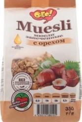 Характеристрики и размер товара Мюсли запеченные с орехом Ого! м/у 350г
