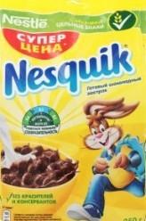 Характеристрики и размер товара Завтраки сухие шоколадные Nesquik м/у 250г