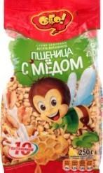 Характеристрики и размер товара Завтраки сухие Пшеница с медом Десять витаминов Ого! м/у 250г