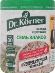 Характеристрики и размер товара Хлебцы Семь злаков Dr.Körner м/у 100г