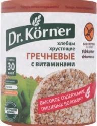 Характеристрики и размер товара Хлебцы гречневые Dr.Körner м/у 100г