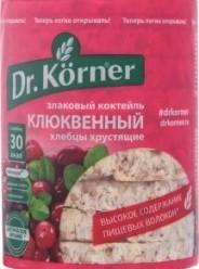 Характеристрики и размер товара Хлебцы хрустящие Dr.Körner Злаковый коктейль Клюквенный, 100 г