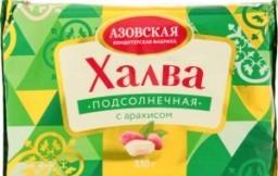 Характеристрики и размер товара Халва подсолнечная Азовская кондитерская фабрика с арахисом, 350 г