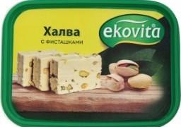 Характеристрики и размер товара Халва Ekovita с фисташками, 250 г