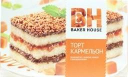 Характеристрики и размер товара Торт бисквитный Кармельон Baker House к/у 350г
