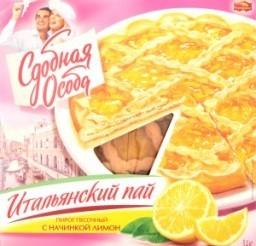 Характеристрики и размер товара Пирог Сдобная Особа Итальянский пай песочный с начинкой лимон, 400 г