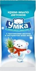 Характеристрики и размер товара Мыло детское Умка с протеинами молока и алое вера 80г