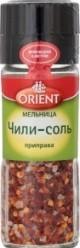 Характеристрики и размер товара Приправа Orient Чили-соль мельница, 48 г