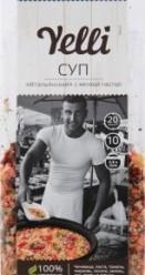 Характеристрики и размер товара Суп Yelli Итальянский с мелкой пастой, 250 г