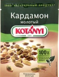 Характеристрики и размер товара Приправа Kotanyi Кардамон молотый, 10 г