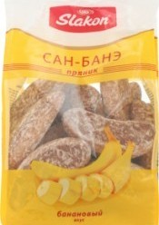 Характеристрики и размер товара Пряники Slakon Сан-Банэ банановый, 450 г