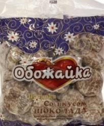 Характеристрики и размер товара Пряники со вкусом шоколада Обожайка Сормовская КФ м/у 380г