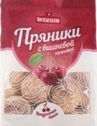 Характеристрики и размер товара Пряники с вишневой начинкой Посиделкино м/у 300г