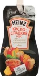 Характеристрики и размер товара Соус Кисло-сладкий Heinz д/п 230г