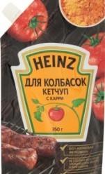 Характеристрики и размер товара Кетчуп Heinz для колбасок с карри, 350 г