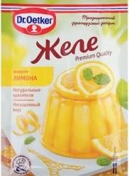 Характеристрики и размер товара Желе Dr.Oetker со вкусом лимона 45г