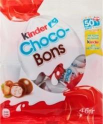 Характеристрики и размер товара Конфеты Kinder Choco-Bons с молочно-ореховой начинкой, 46 г