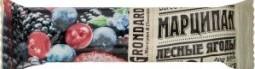 Характеристрики и размер товара Батончик Grondard Марципан лесные ягоды, 50 г