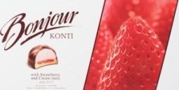 Характеристрики и размер товара Десерт Konti Bonjour Souffle вкус клубники со сливками, 232 г