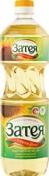 Характеристрики и размер товара Масло Затея подсолнечное рафинированное дезодорированное высшего сорта 1л