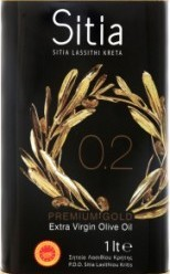 Характеристрики и размер товара Масло оливковое Sitia Extra Virgin нерафинированное 0.2%, 1 л