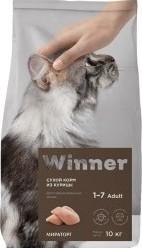 Характеристрики и размер товара Корм сухой Winner полнорационный для стерилизованных кошек из курицы 10кг
