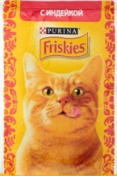 Характеристрики и размер товара Корм для кошек Purina Friskies с индейкой, 85 г
