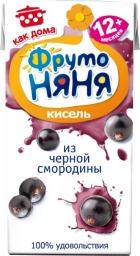 Характеристрики и размер товара ФрутоНяня кисель из черной смородины с 12 месяцев, 0,2 л