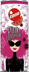Характеристрики и размер товара Epsa Розовый лимонад напиток газированный с соком розового грейпфрута, 0,33 л