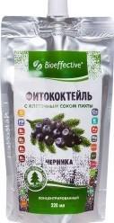 Характеристрики и размер товара BioEffective Фитококтейль с клеточным соком пихты, Черника, 220 мл