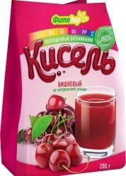 Характеристрики и размер товара Фитодар кисель вишневый на натуральной основе витаминизированный, 200 г