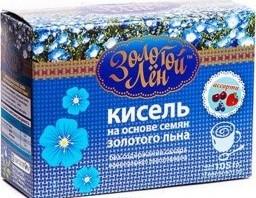 Характеристрики и размер товара Золотой лен Кисель на основе семян золотого льна со вкусом вишни, 7 пакетов по 15 г