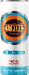 Характеристрики и размер товара Ten Strike Sky Энергетические напиток со вкусом Маракуйя, 250 мл