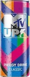 Характеристрики и размер товара MTV UP! Классик напиток энергетический газированный, 0,25 л
