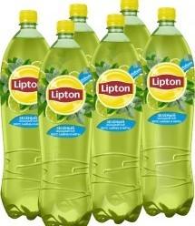 Характеристрики и размер товара Lipton Ice Tea Лайм-Мята холодный чай, 6 штук по 1,5 л