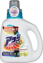 Характеристрики и размер товара Attack BioEX Концентрированный универсальный гель для стирки (бутылка) 0.9 кг