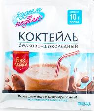 Характеристрики и размер товара БиоСлимика Коктейль белково-шоколадный, 40 г