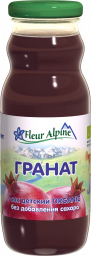 Характеристрики и размер товара Fleur Alpine Organic сок гранат, с 3 лет, 200 мл