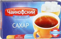 Характеристрики и размер товара Сахар белый кусковой Чайкофский к/у 1кг