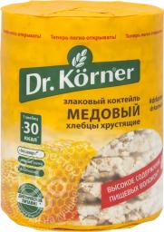 Характеристрики и размер товара Хлеб Dr.Korner Злаковый коктейль мед, 100 г