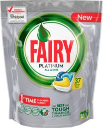 Характеристрики и размер товара FAIRY Platinum All in 1 Ср-во д/мытья посуды в капсулах д/автоматич посудомоечных машин Лимон 37шт