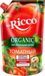 Характеристрики и размер товара Кетчуп Mr.Ricco Organic Томатный, 350 г