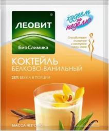 Характеристрики и размер товара БиоСлимика Коктейль белково-ванильный, 5 пакетов по 40 г