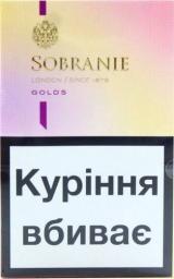 Характеристрики и размер товара Сигареты Sobranie ks ss golds